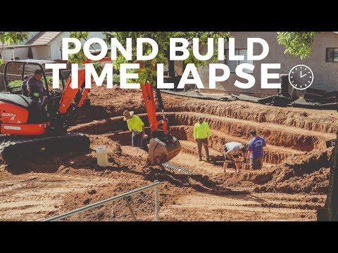 TIME LAPSE of Building our Swimming Pond