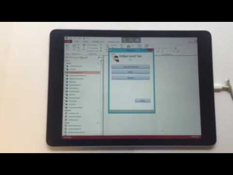MS Access in the cloud on an iPad
