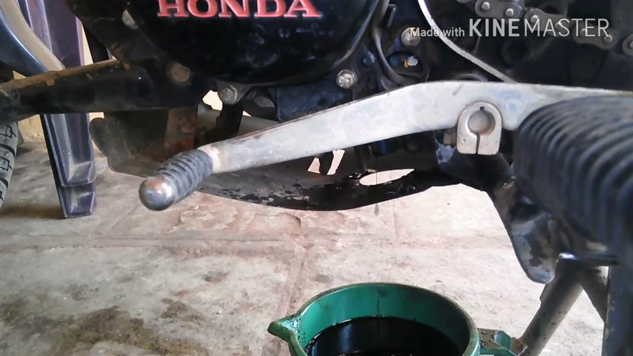 honda shine  engine oil change youtube