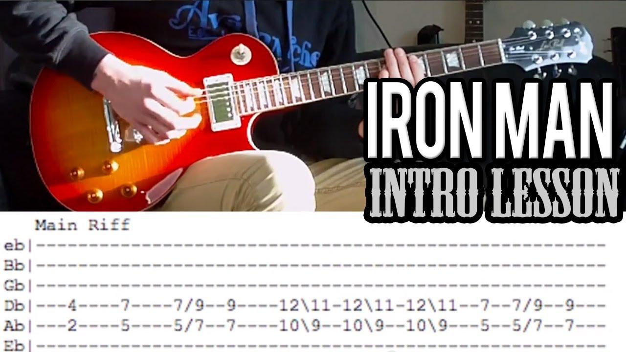 Black Sabbath Iron Man Riff Guitar Lesson With Tabs Youtube