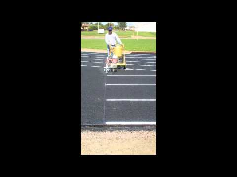 Start line being painted on new Trenton High School Track