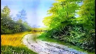 Как нарисовать пейзаж поэтапно гуашью/How to draw a landscape step by step gouache