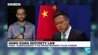 China warns of 'counter-measures' as UK offers residency to Hong Kong citizens over security law