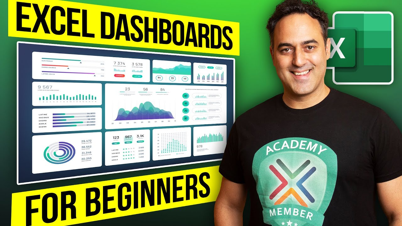 How To Create A Dashboard In Excel YouTube - Sales dashboard excel