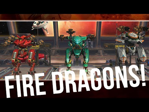 War Robots - Dragon Robots With Blaze, Igniter, Ember | Fire Weapons Gameplay