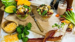Rachel Hollis Layered BBQ Chicken Salad
