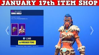 Fortnite Item Shop (January 17th) | *NEW* FYRA & JAEGER SKINS! + Amazing *NEW* Shields!