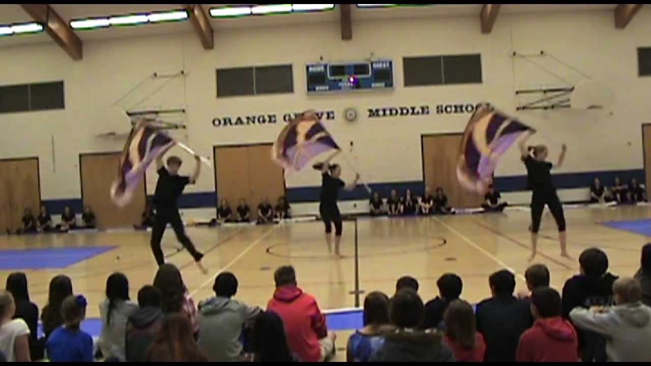 Counting Stars Colorguard Routine
