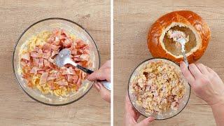 Макароны с сыром в хлебе Рецепты от Со Вкусом