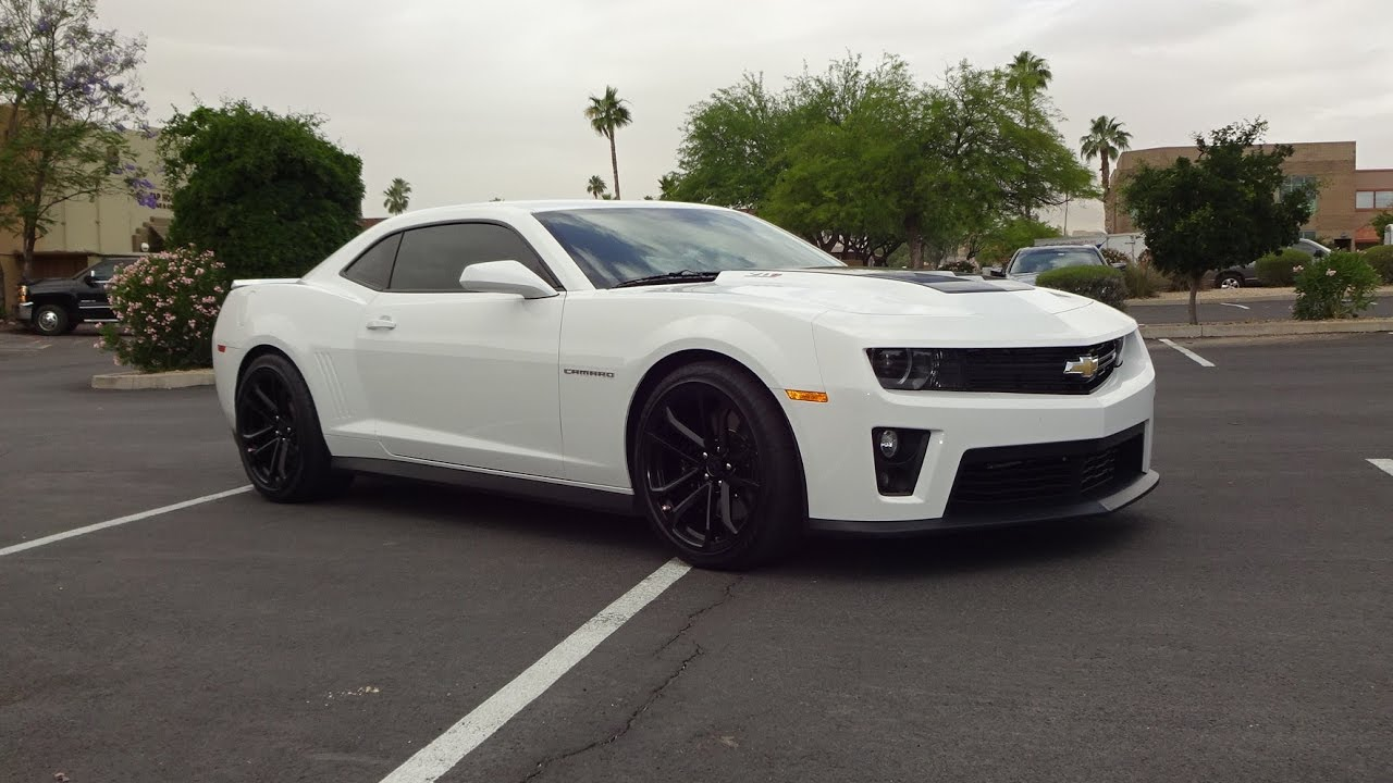2013 Chevrolet Chevy Camaro ZL1 in White Paint & Engine Sound on My ...