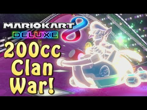 Mario Kart 8 Deluxe 200cc Clan War - BzK vs. DR Full War with Call