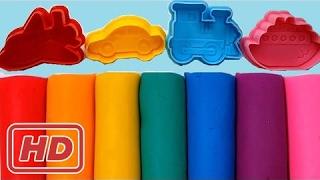 色遊び Doh 子供のため粘土車 & Peppa 豚車指家族童謡をモデリングを学ぶ