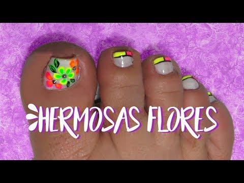 Decoración De Uñas Pies Con Flores Diseño Fácil Video Download
