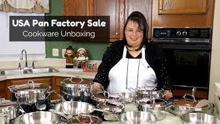 USA Pan Factory Sale Cookware Unboxing | 2 Tri-Ply Cookware Sets! | 8 Piece & 15 Piece Dream Set