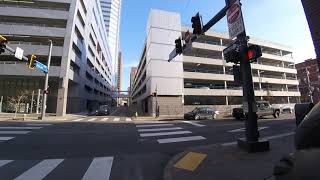 Biking:  Point to First Ave. parking garage via 3rd Ave. and Smithfield St.