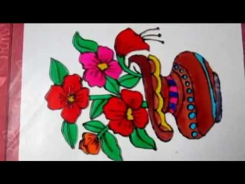 How To Make A Gorgeous Flowers Glass Painting Youtube