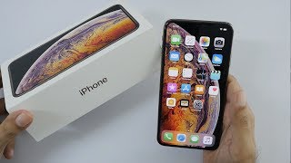 iPhone XS Max Unboxing & Overview (Gold Color)
