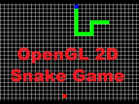 OpenGL 2D Snake Game C  With Tutorial and Source