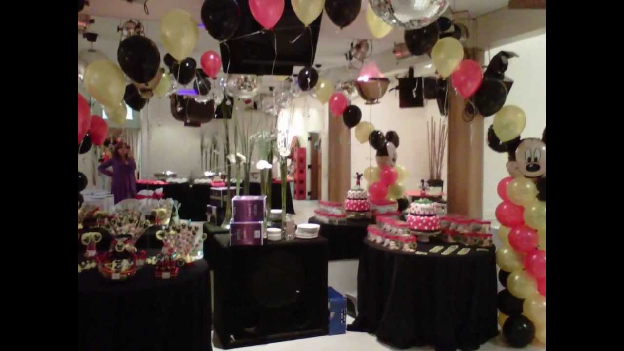 DECORACION CON GLOBOS PARA CUMPLEAOS  YouTube