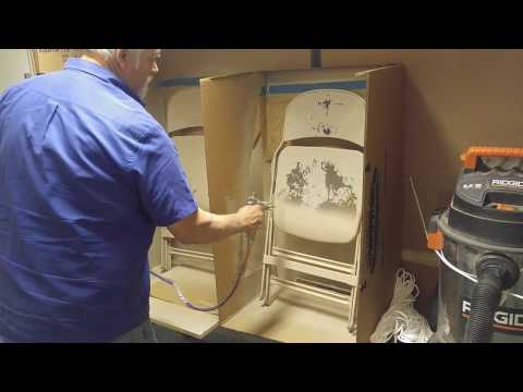 painting folding chairs