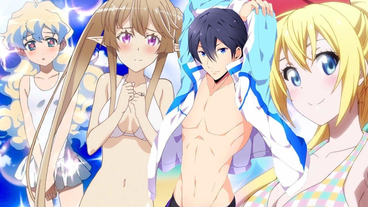 top 10 anime beach episodes - youtube