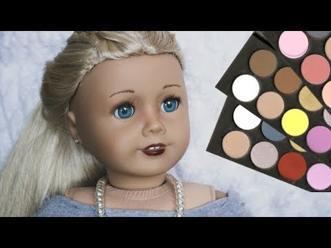 MAKEUP FOR DOLLS USING EVERYDAY ITEMS!