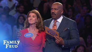 Is Becky's final answer worth $20,000? | Family Feud