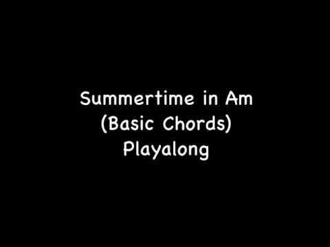 Ukulele Play Along Summertime In Am Basic Chords Youtube