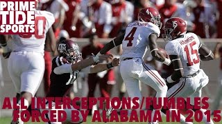 All Interceptions/Fumbles Forced by Alabama in 2015 (Prime Sports)