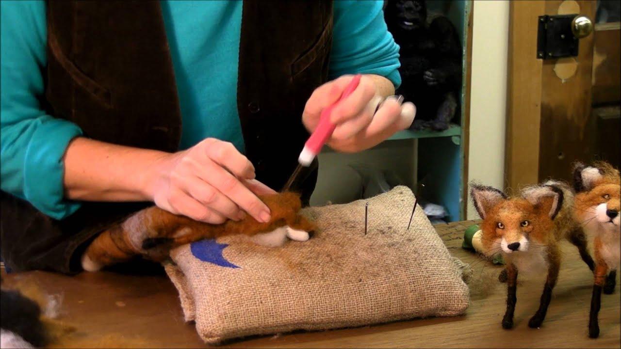 how to needle felt animals