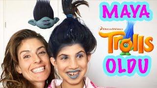 Aslı, Maya ve Masal Poppy ile Branch Yaptı 1 | Bizim Aile Eğlenceli Çocuk Videoları