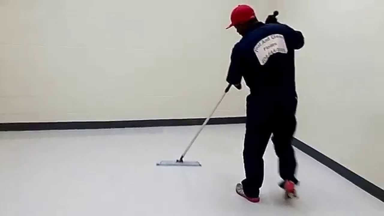 waxing vct floors with flat mops. - youtube