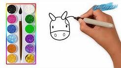 Sapi Belajar Menggambar Dan Mewarnai Hewan Untuk Anak