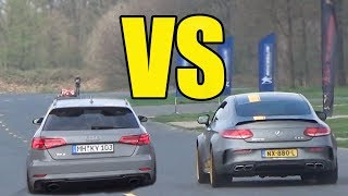AUDI RS3 vs MERCEDES C63s AMG  😱**RS3 WON??**😱