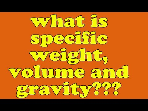 specific gravity in hindi | specific weight in hindi | specific volume | meaning of specific