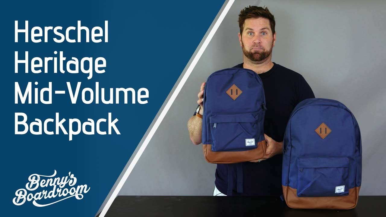 Herschel Heritage vs Heritage Mid Volume Backpack - Benny s Boardroom f19b7c5469b08