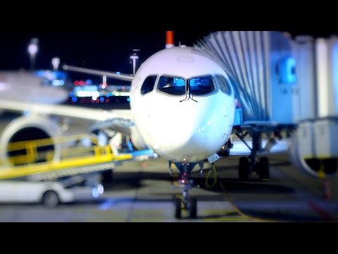 Tilt-shift & Time-lapse Blue Night @ Zurich Airport Nov.2016