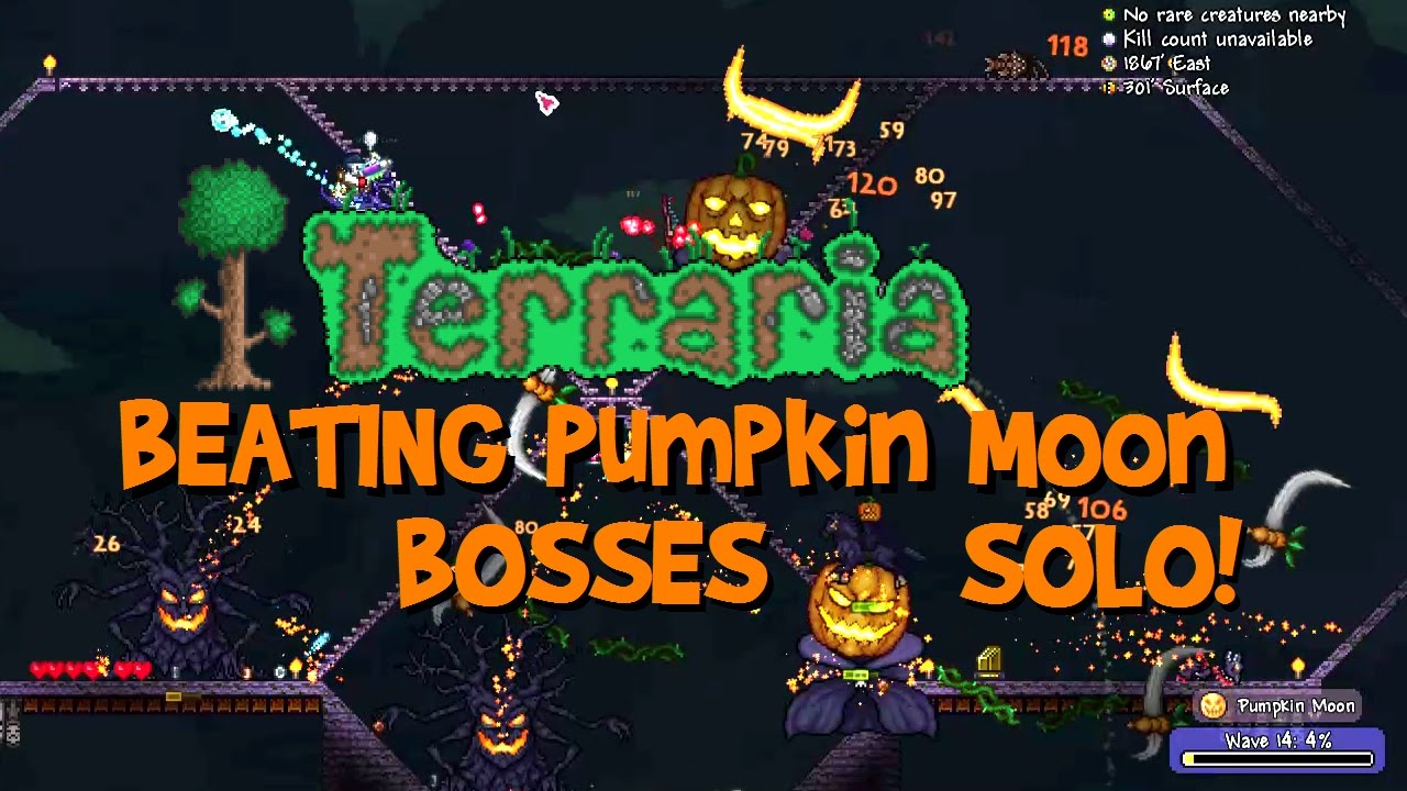 Beating Bosses Solo Terraria Pumpkin Moon Guide Arena Drops How Wiring 1 2 To Summon Event Tips 13 Etc