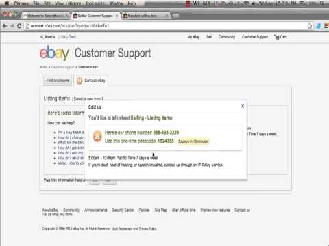 Contacting EBay: How You Can Contact EBay In Under Two Minutes.