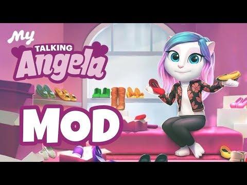 my talking angela mod apk hack unlimited money and diamonds