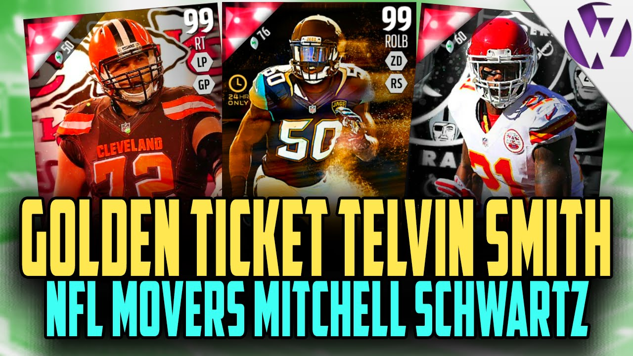 MADDEN 16 GOLDEN TICKET TELVIN SMITH NFL MOVERS MITCHELL