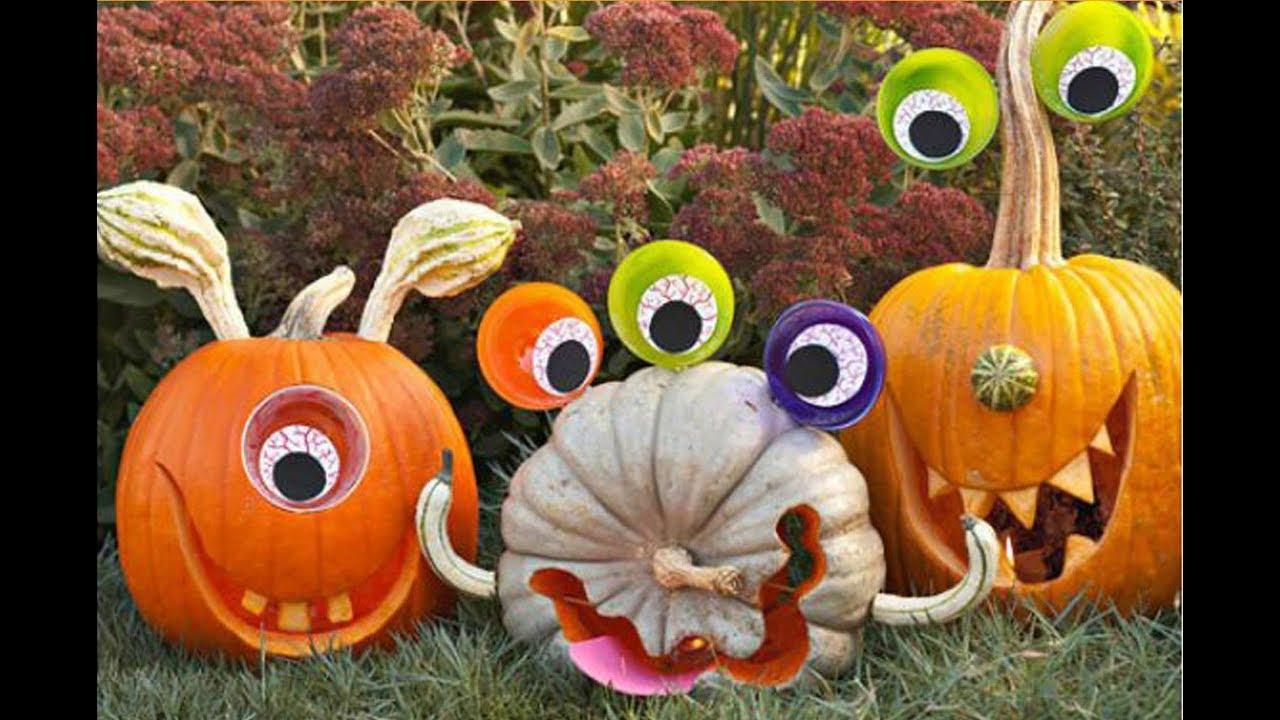 125 mejores ideas de calabazas para halloween en vivirtoday youtube - Decorar una calabaza de halloween ...