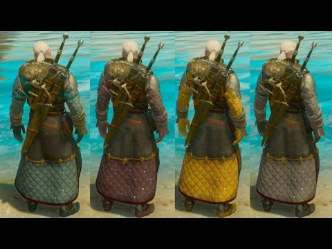 The Witcher 3 Blood And Wine - Where To Buy Armor Dyes (Merchant) & Color Showcase