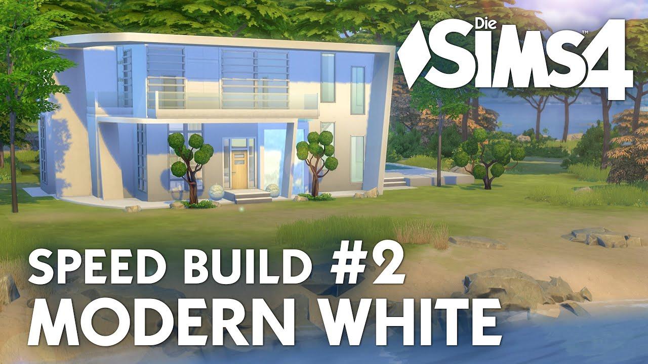 haus bauen die sims 4 modern white speed build 2 mit wohnzimmer und k che deutsch youtube. Black Bedroom Furniture Sets. Home Design Ideas