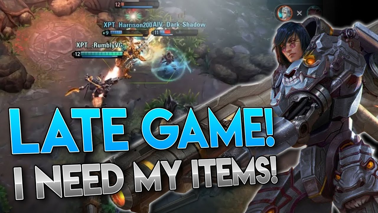 DEFINITION OF LATE GAME!! Vainglory 5v5 Gameplay - Baron  CP  Top lane Gameplay