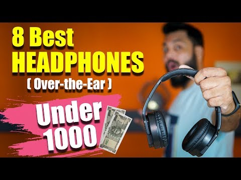 Top 8 Best Over-the-Ear HEADPHONES (Not Earphones) UNDER ₹1000 🎧🎧🎧 Wired & Wireless