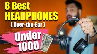 Top 8 Best Over-the-Ear HEADPHONES (Not Earphones) UNDER ₹1000 Wired & Wireless