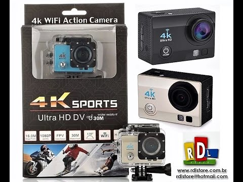 e1757b9d14 Camera prova d'Água Action Cam 4K wi-fi Original estilo Gopro - YouTube