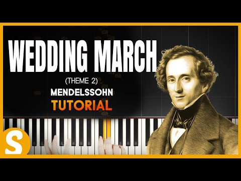 How to play WEDDING MARCH 2nd Theme  Mendelssohn  Synthesia Piano Tutorial HD