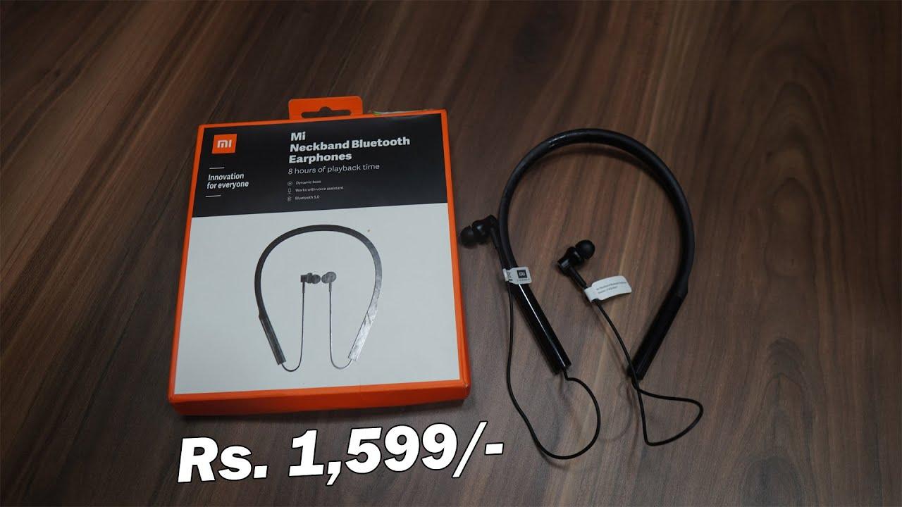 Xiaomi Mi Neckband Bluetooth Headset   best earphone for under Rs. 20